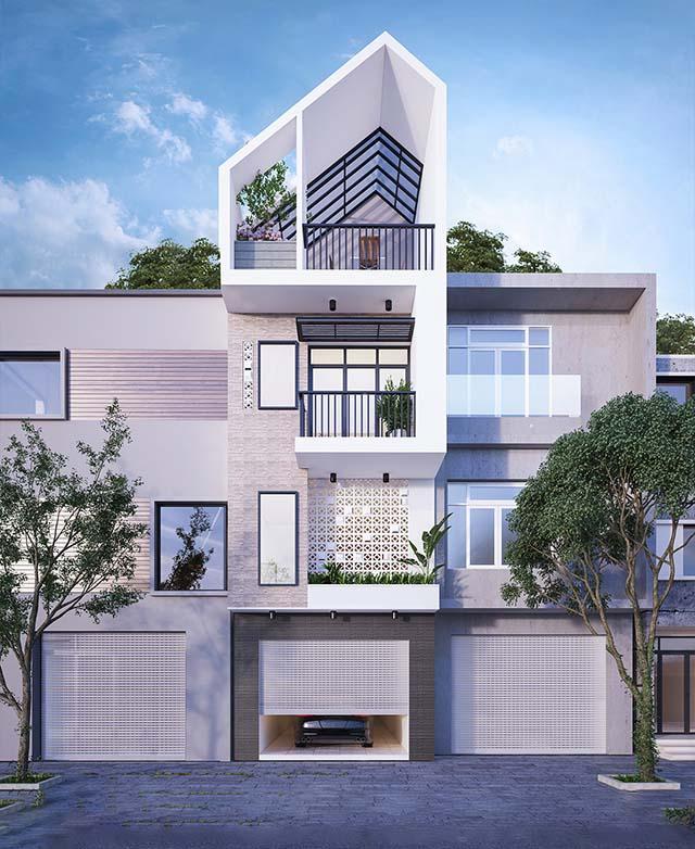 Thiết kế nhà mái thái 1