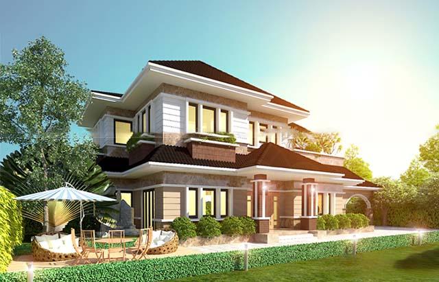 Thiết kế nhà mái thái 2
