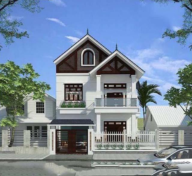 Thiết kế nhà mái thái 3