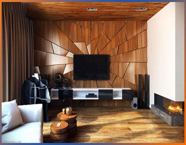 gỗ ốp tường phòng khách 13