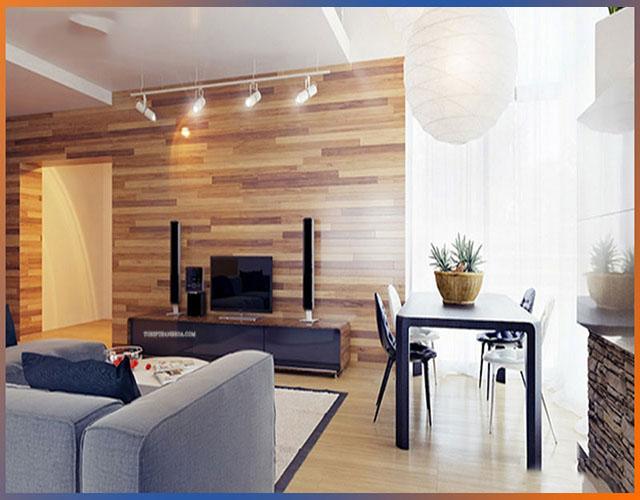 gỗ ốp tường phòng khách 9
