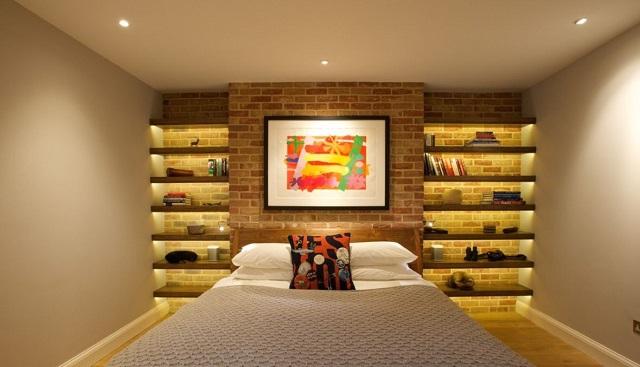 kệ trang trí phòng ngủ 1-2