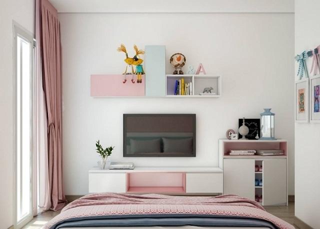 kệ trang trí phòng ngủ 4