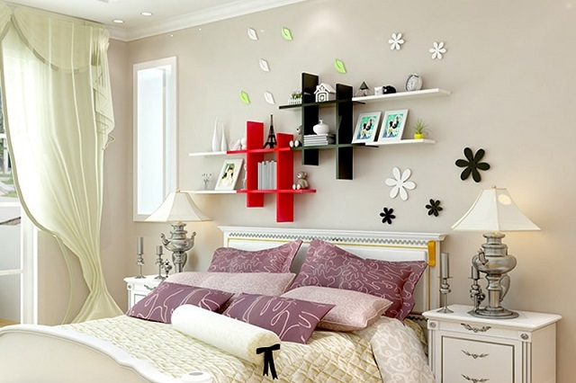 kệ trang trí phòng ngủ 8