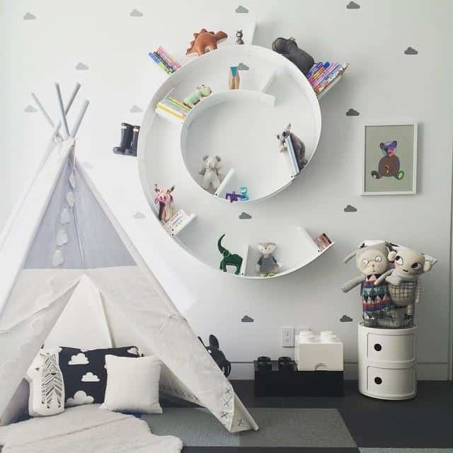 kệ trang trí phòng ngủ kệ kiểu