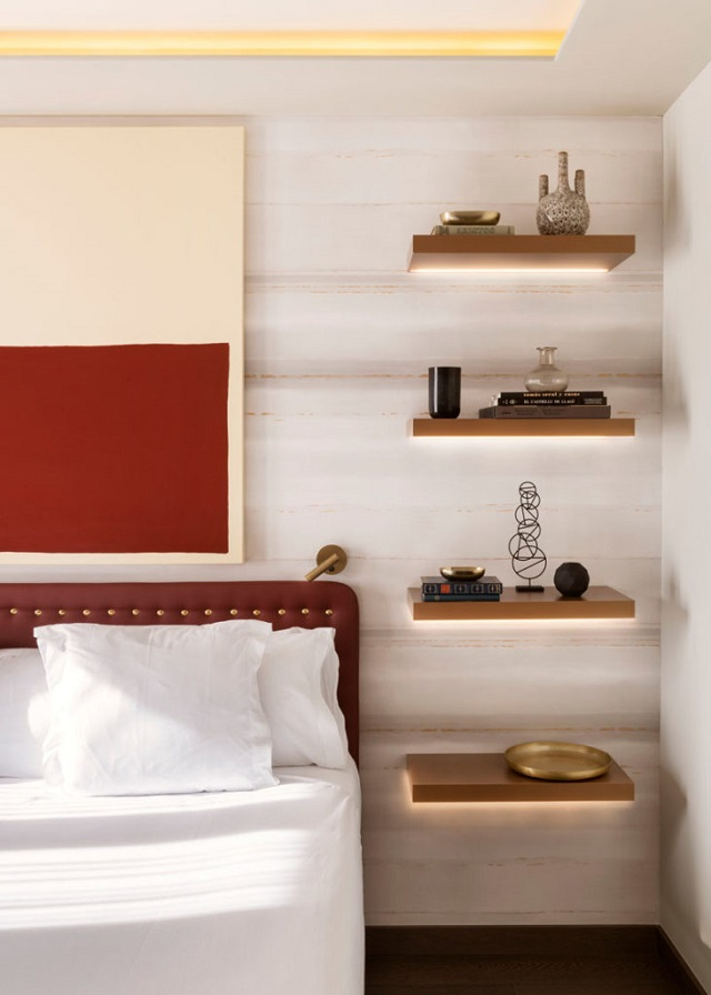 kệ trang trí phòng ngủ thanh ngang 2