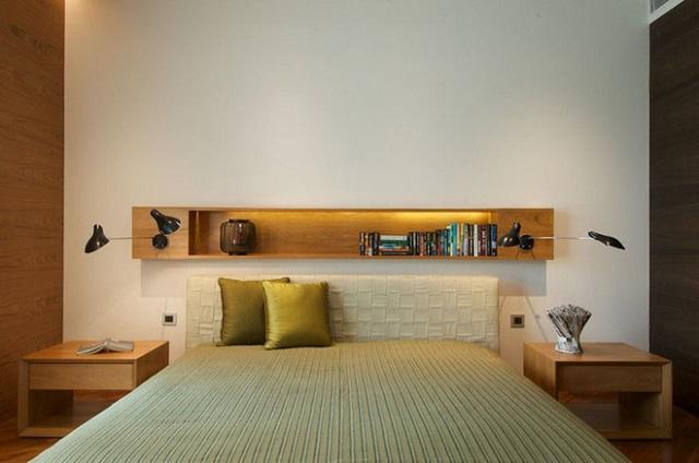 kệ trang trí phòng ngủ thanh ngang