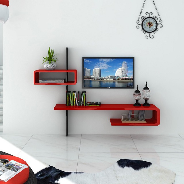 kệ trang trí phòng ngủ treo tường 2