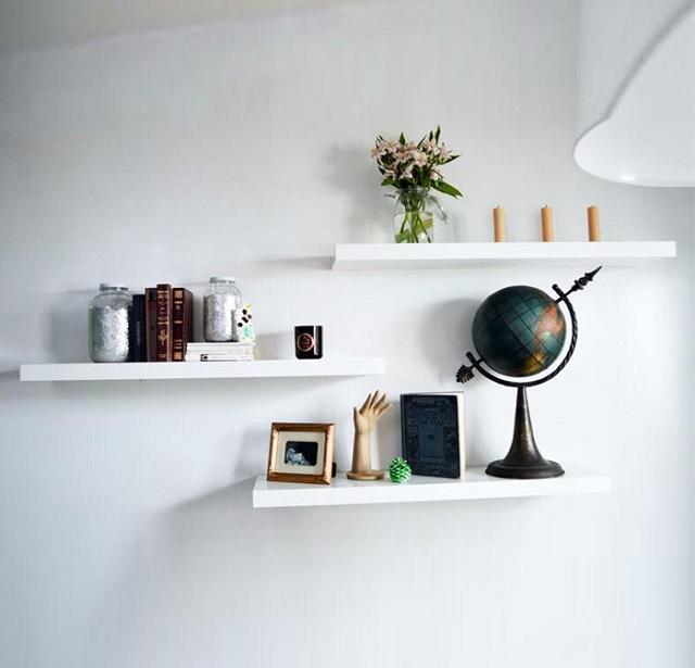 kệ trang trí phòng ngủ treo tường
