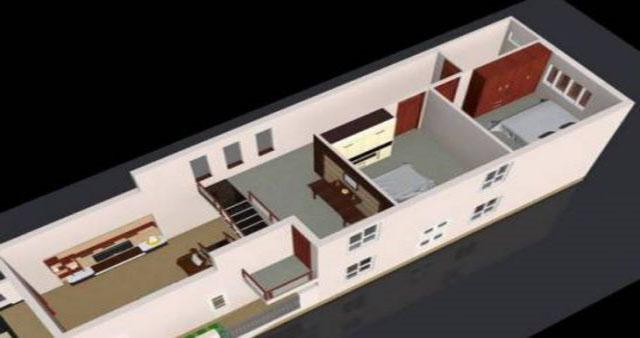 nhà cấp 4 3 phòng ngủ 2