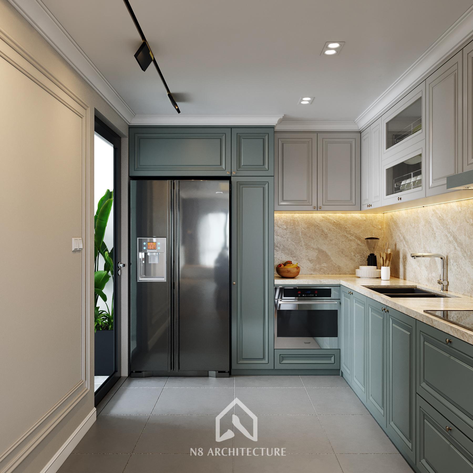 thiết kế nội thất bếp chung cư paragon 3