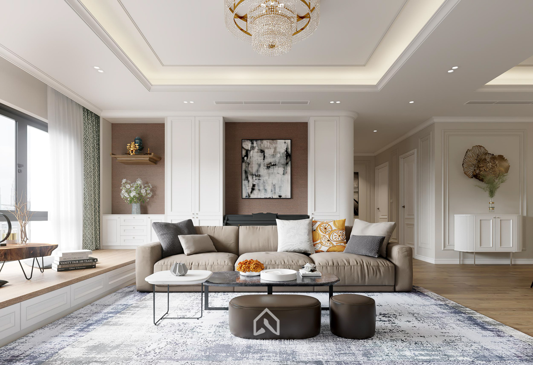 thiết kế nội thất chung cư paragon 2