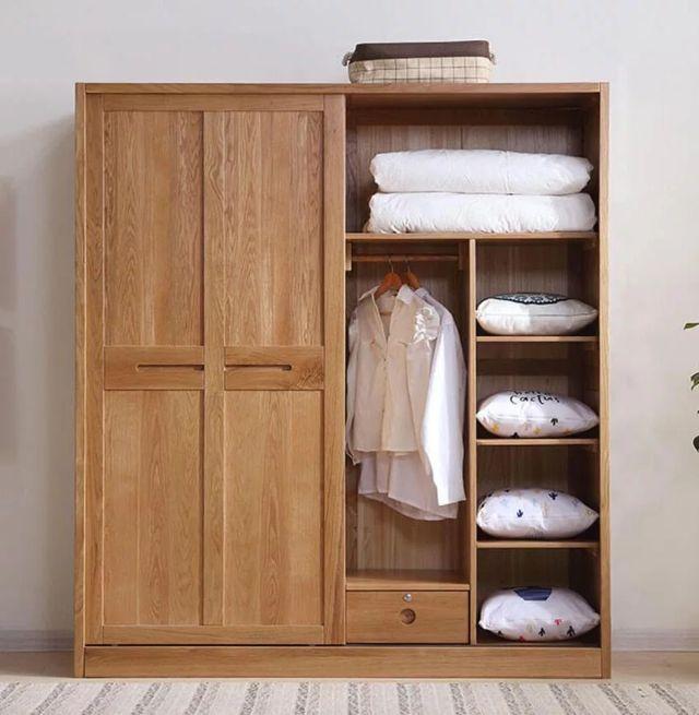 Tủ quần áo gỗ sồi 1