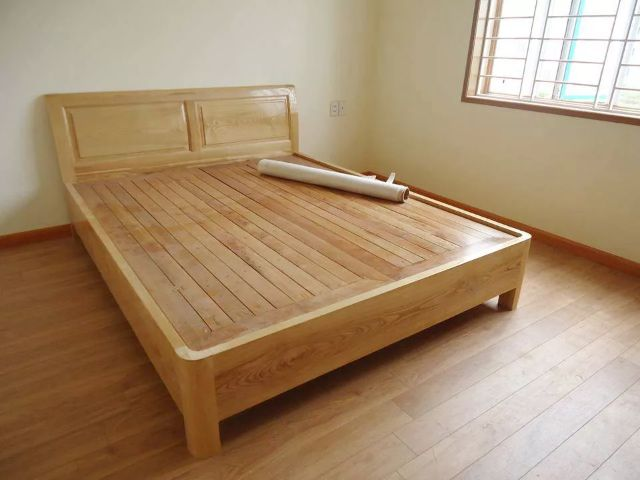 Giường ngủ gỗ sồi 1