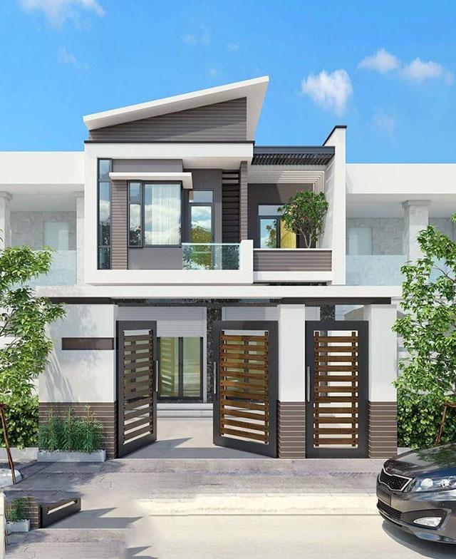 mẫu nhà phố 2 tầng 1