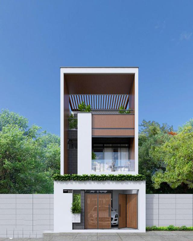 mẫu nhà phố 2 tầng 2