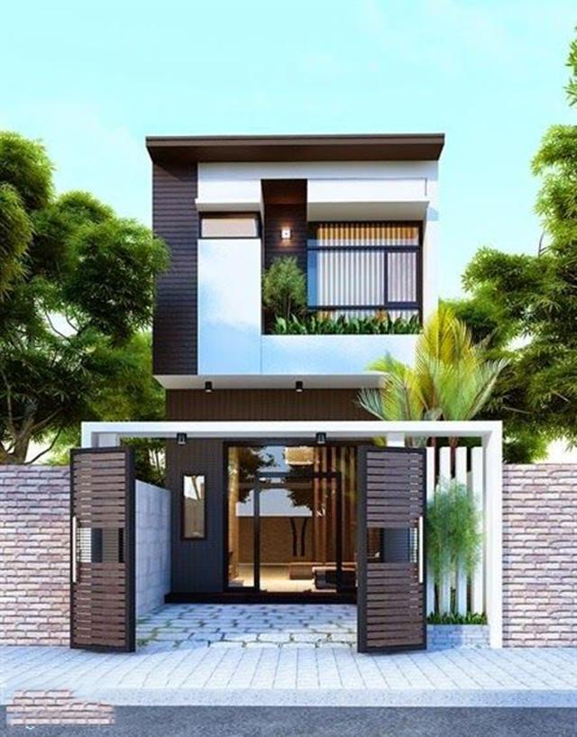 mẫu nhà phố 2 tầng 4