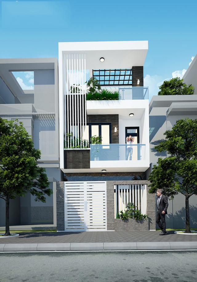 mẫu nhà phố 2 tầng 5