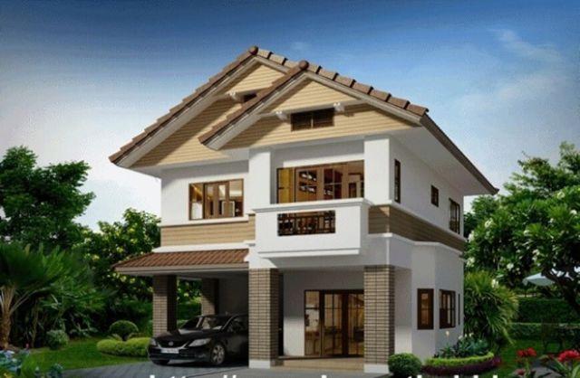 Nhà 2 tầng kiểu nhà vườn giá 500 triệu
