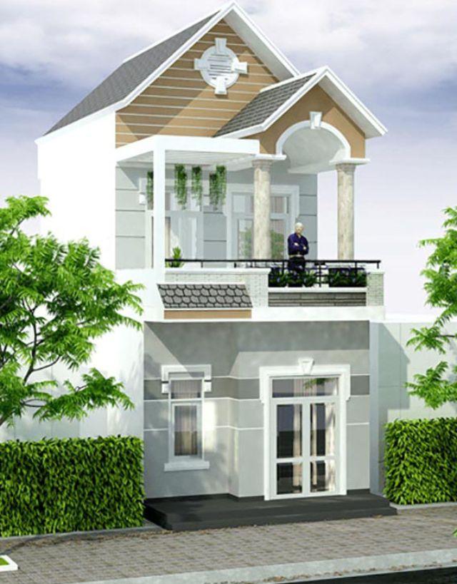 nhà 2 tầng kiểu mái thái giá 500 triệu