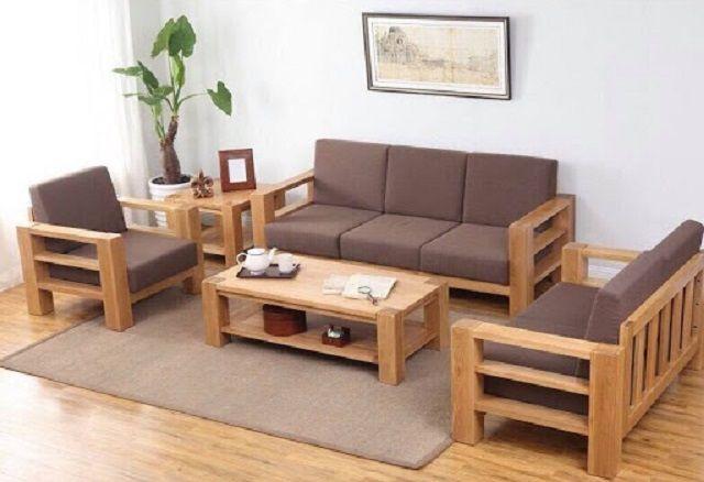 Ghế sofa gỗ sồi 1