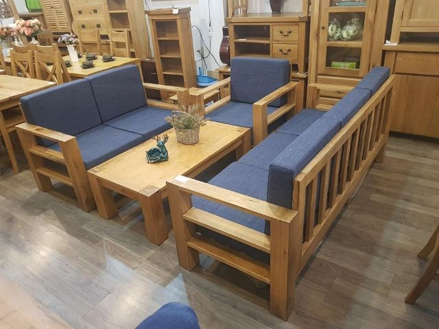 Ghế sofa gỗ sồi 2