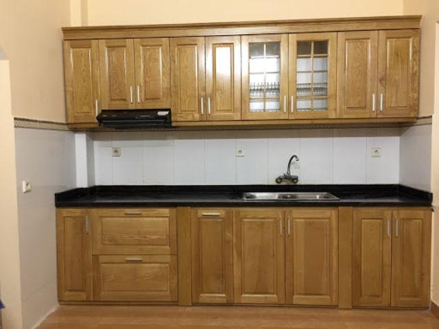 Tủ bếp gỗ sồi 1