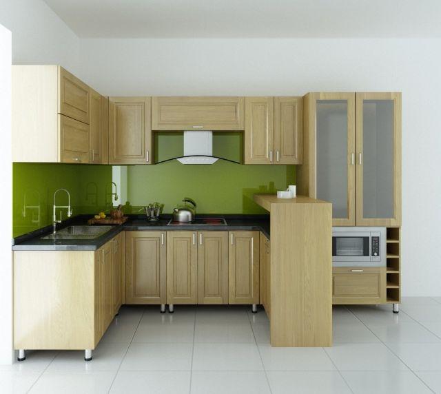 Tủ bếp gỗ sồi 2