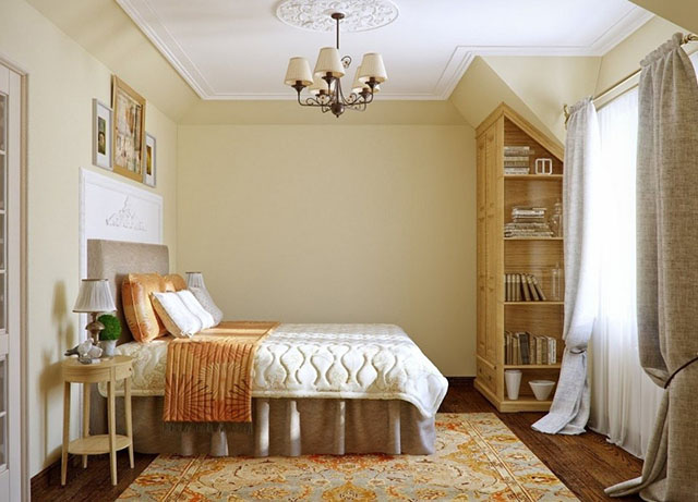 Màu sơn phòng ngủ tuong đồng với màu chủ đạo