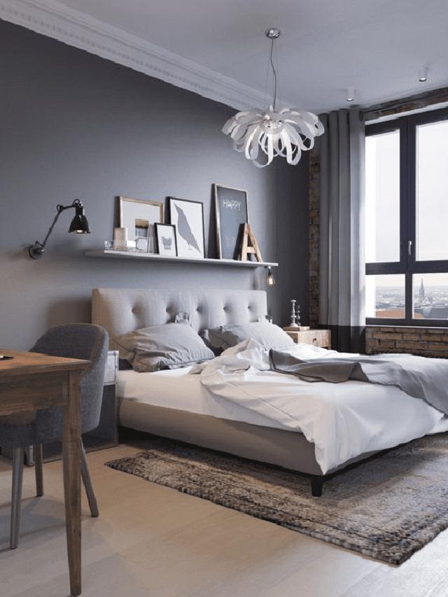 màu sơn phòng ngủ thoải mái về thi giác