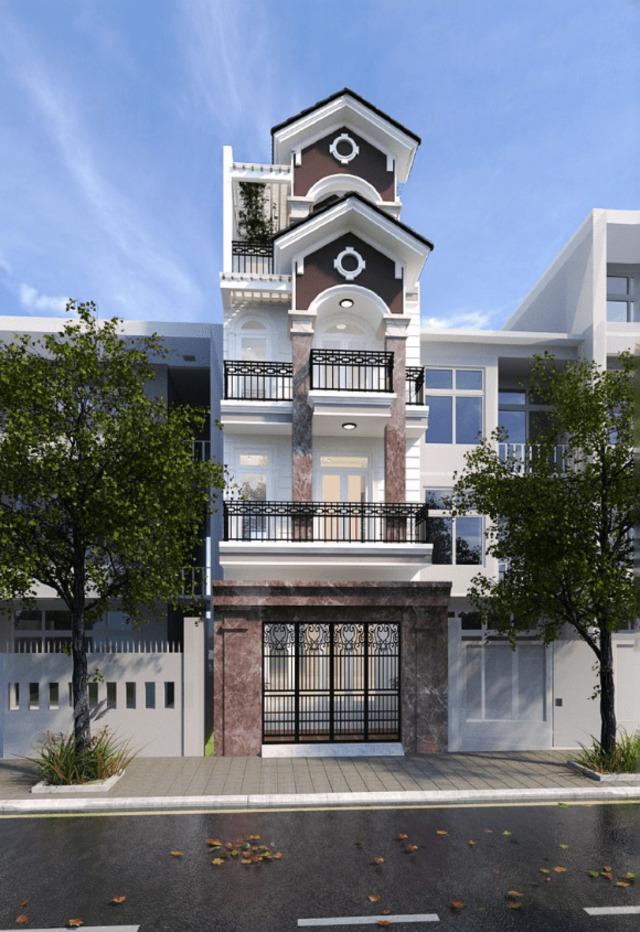 nhà phố tân cổ điển 4 tầng 4