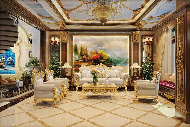 phòng khách cổ điển 1