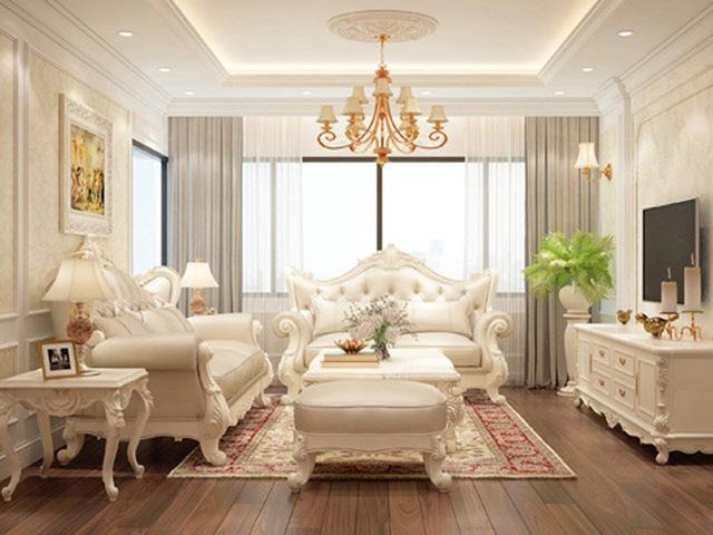 phòng khách cổ điển 5