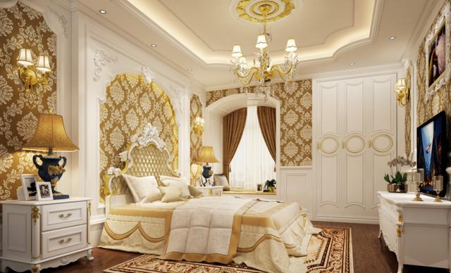 phòng ngủ cổ điển 4