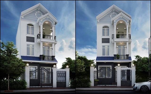 nhà phố 3 tầng bán cổ điển hiện đại 2