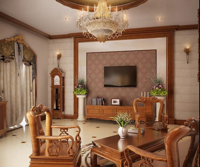 bàn ghế gỗ phòng khách 10