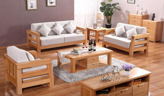 bàn ghế gỗ phòng khách 2