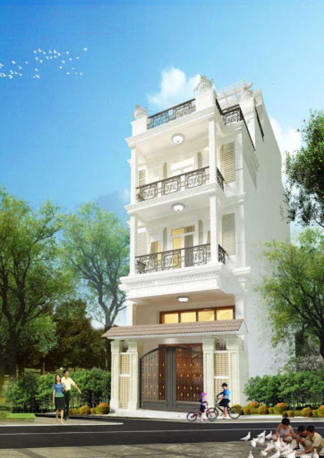 nhà phố 3 tầng bán cổ điển phong cách Châu âu hiện đại 2