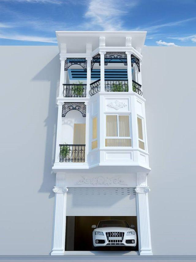 nhà phố 3 tầng bán cổ điển hiện đại 1