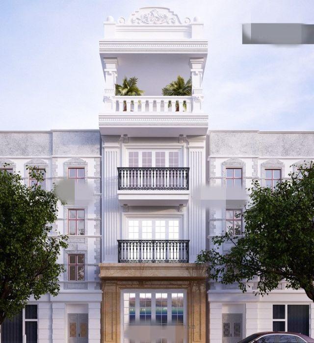 nhà phố 3 tầng bán cổ điển 1 tum