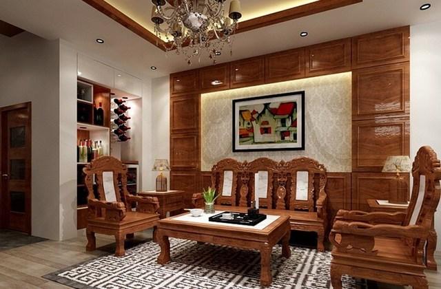 Ưu điểm của bàn ghế gỗ phòng khách