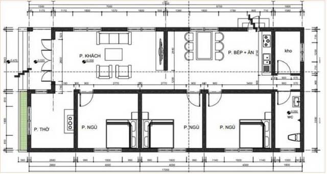 bản vẽ thiết kế nhà cấp 4 2