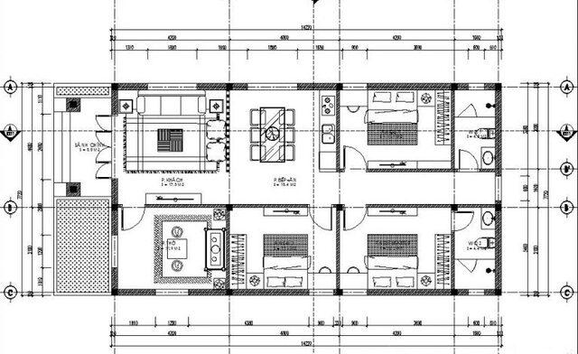 bản vẽ thiết kế nhà cấp 4 4