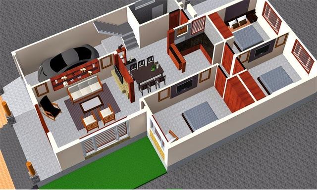 bản vẽ thiết kế nhà cấp 4 7