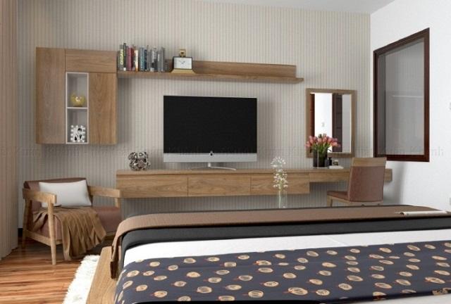 Cách chọn kệ tivi phòng ngủ 1