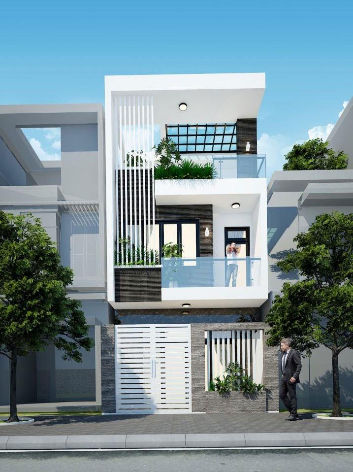 nhà phố mặt tiền 5m 2