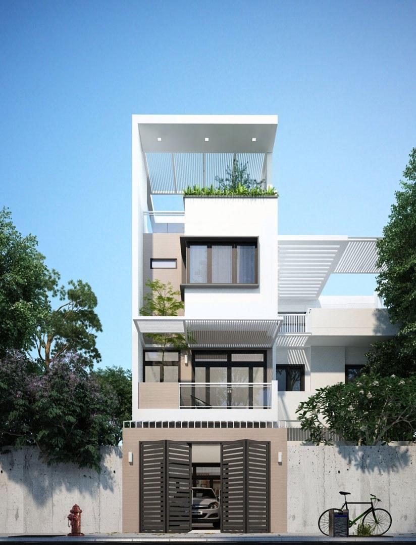 nhà phố mặt tiền 5m 7