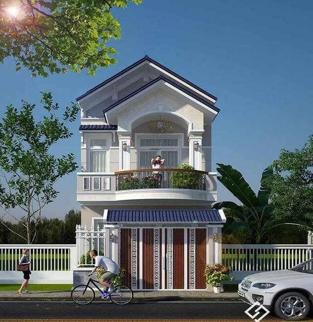 nhà phố mái Thái 2 tầng