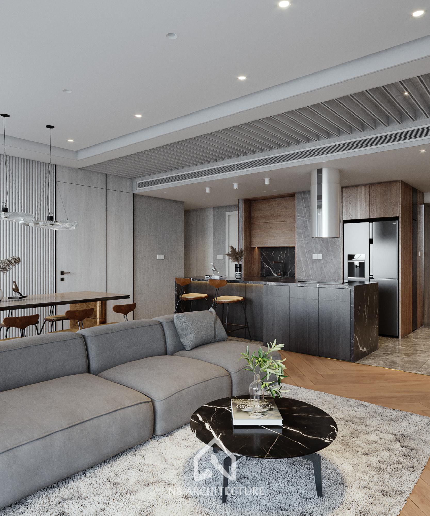 thiết kế nội thất chung cư vinhomes symphony 6
